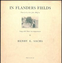 """Image of """"In Flanders Fields"""" by Henry E. Sachs; 1919."""