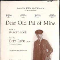 """Image of """"Dear Old Pal of Mine"""" by Harold Robè and Gitz Rice; 1918."""