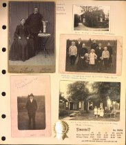 Image of Page from family photo album, family & home in Sweden