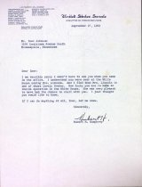 Image of Letter from Hubert H. Humphrey, 1963