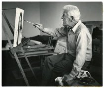 Image of Portrait of Karl Larsson in his studio, Minneapolis, MN, 1966