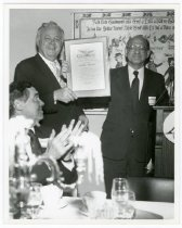 Image of Curtis L. Carlson receives Community Service Award, ASI, 1990?