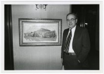 Image of Richard Hillstrom at ASI's Carl Sprinchorn exhibit, 1979