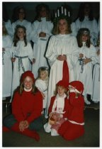 Image of Lucia and her attendants, 1993