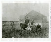 Image of Nels & Anna Olson family, Thomson, MN 1890?