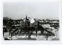 Image of view of Mansion and neighborhood, ca. 1930.