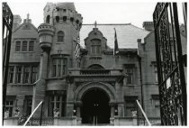 Image of Front facade of the mansion, ca. 1990.