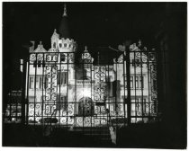 Image of Mansion at night, ca. 1990.