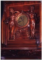 Image of fireplace clock, Grand hall, 1990?