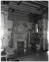 Image of dining room fireplace, 1930