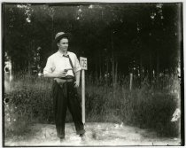 Image of Young man with gun, Hubbard County MN 1910?