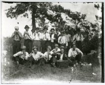 Image of Picnic group, near Akeley MN 1910?