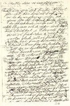 Image of Page from letter from family in Sweden