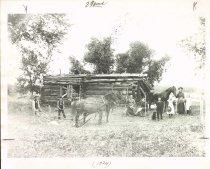 Image of Home of Daniel Justus, built 1856, Swede Lake, MN, 1896