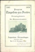 Image of Program for 25th anniversary of Augustana' s mission work, 1920
