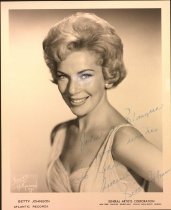 Image of Autographed photo of Betty Johnson