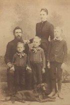 Image of John, Mathilda, (front) Rudolph, J. Leonard, Edward, 1890?