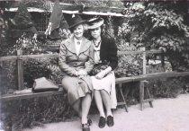 Image of Emma & Vivian Benson (R), Blekinge House, Skansen, Sweden, summer 1939
