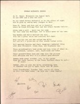 Image of Poem for Herman Benson's 90th birthday, written by family members