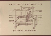 Image of Pamphlet - An Exhibition of Weaving - by Hilma Berglund
