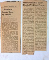 """Image of Articles about """"Arcadia Borealis,"""" illustrated by Hilma, 1933, 1939"""