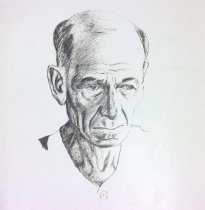 Image of Sketch of Gust Carlson, undated