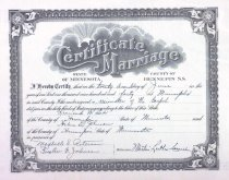 Image of Leonard & Helen's marriage certificate, Hennepin County, MN, 1940