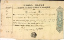 Image of Immigration document for Carl Johannison, 1854