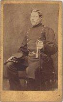 Image of Sergeant Bismark in Union uniform, undated, Cartes de visite