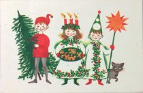 Image of Christmas & New Year postcard, undated