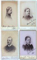 Image of Brita Barnikov, Maria Anderson, Signe Larsson, 1892; Oscar Olsson, 1893
