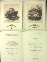 Image of Covers & inside of menu for the Swedish American Line, 1930
