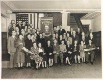 Image of Blekinge Gille members at ASI, 1950s?