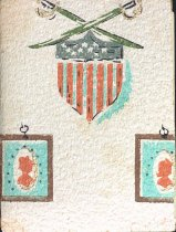 Image of Cover made of wallpaper for annual cookbook, undated