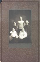Image of Col. Tom & Mrs. Marie Gabrielson, sons Raymond and twins Milton & Bramwell