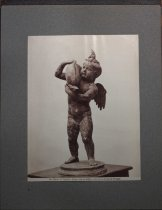 Image of Bronze statue of Cupid with a fish, museum in Pompeii, undated