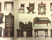 Image of Swedish furniture in book of Swan Turnblad