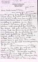 Image of Lillian Turnblad letter to Sister Marie Theresa, 1937