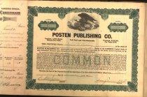 Image of Posten stock certificates