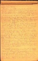 Image of Magnus Turnblad's trial notes, 1909