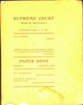 Image of Paper book brief for Isaac Ekeberg v. Turnblad, 1910