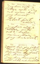 Image of Claes Hillard's 1893 diary