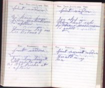Image of Claes Hillard's 1909 diary