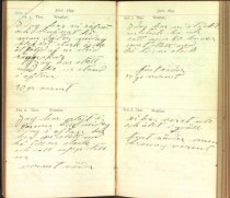 Image of Claes Hillard's 1894 diary