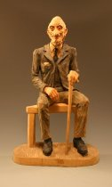 Image of Sitting Man with a Stick I - 1971