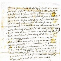 Image of agreement between John Taylor and James Hopkins to be a tenant on Garret farm for one year - 1968.020.1265