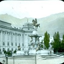 Image of Government building with statue monument Europe                                                            - 2000.500.1997