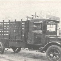 Image of view of the truck owned by the Bentley Express Company in the 1920s - 2001.750.0096