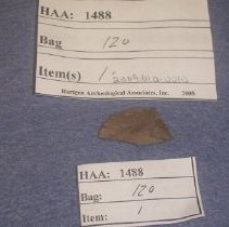 Image of Debitage,  Thinning Flake.  