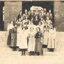 Image of Class portrait at Ballston Spa High School                                                                                                                                                                                                                     - 1990.043.0003